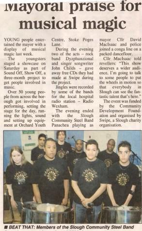 Mayor praises steel band group, Panachea.