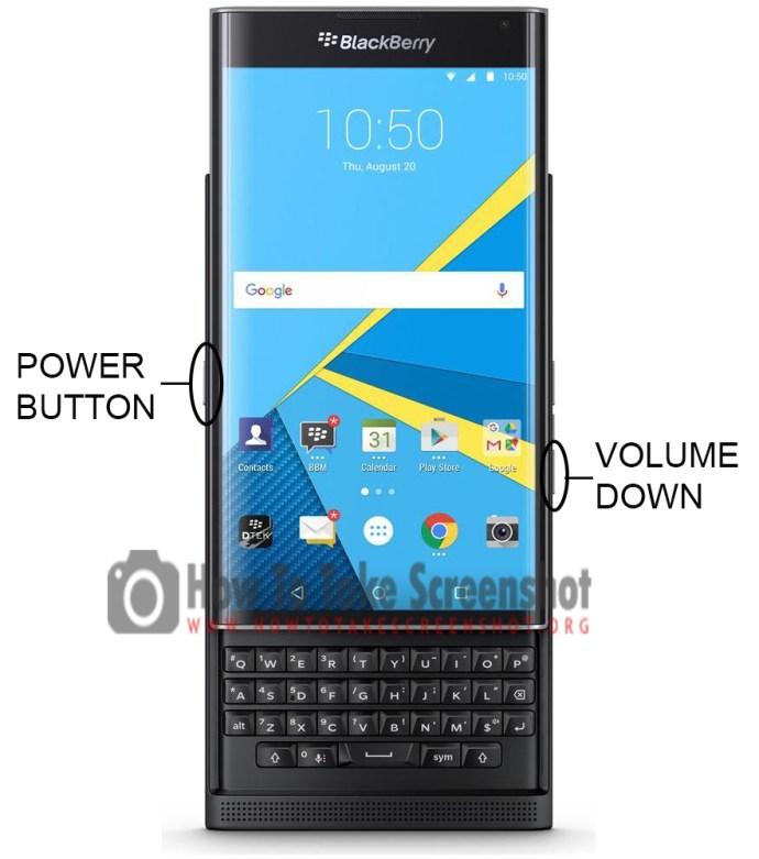How to Take Screenshot on Blackberry Priv 2