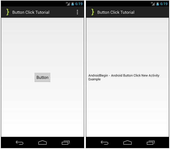 Button Click Tutorial ScreenShot