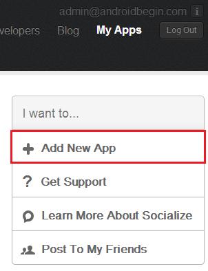 GetSocialize Add New App