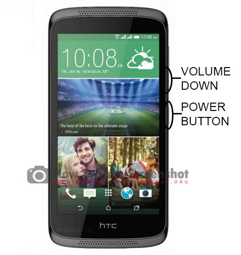 How to Take Screenshot on HTC Desire 526 G