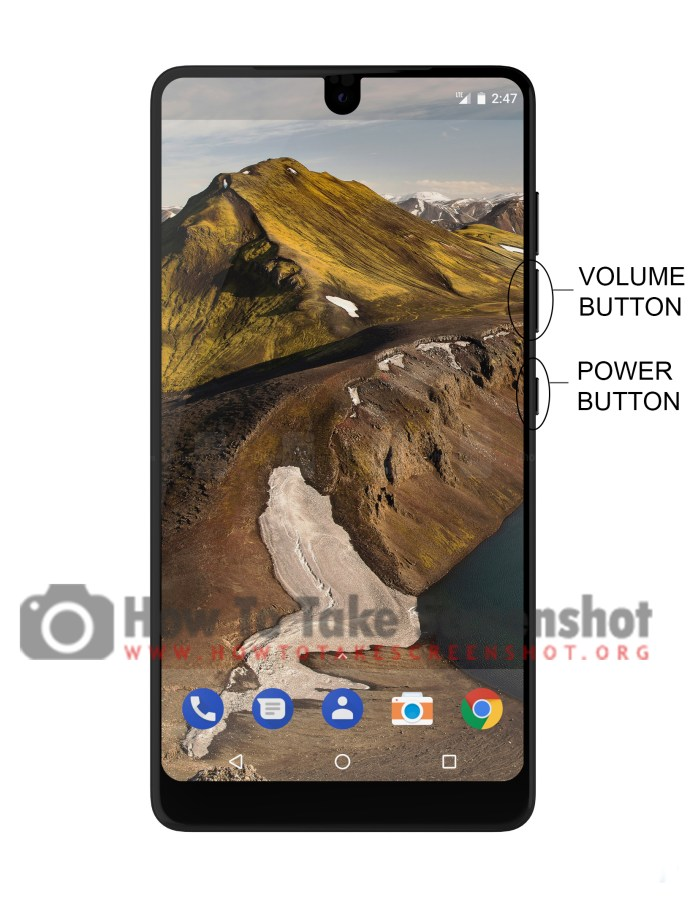 How to take Screenshot on Essential Phone