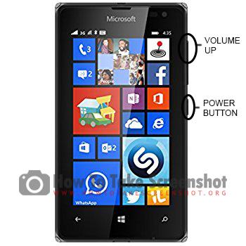 How to take Screenshot on Microsoft Lumia 435