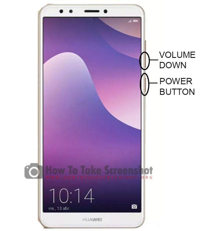 How to Take Screenshot on Huawei Y7 Prime (2018)