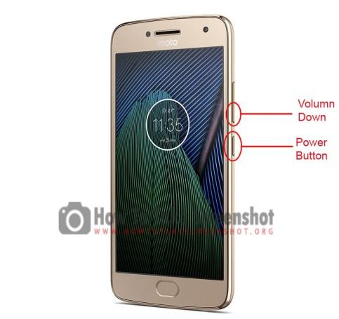 How to Take Screenshot on Moto G5