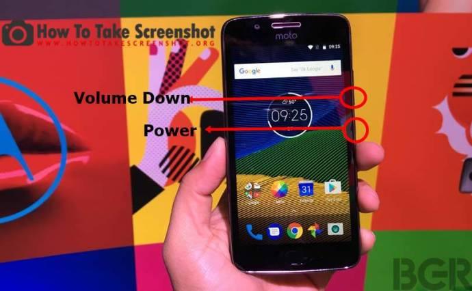Screenshot on Lenovo Moto G5