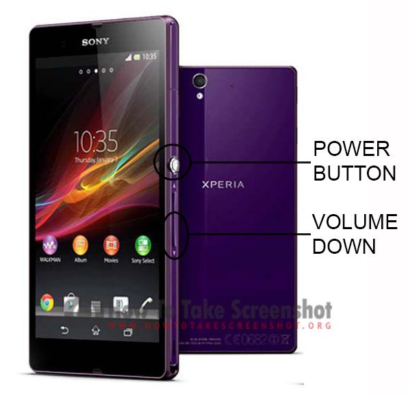 How to Take Screenshot on Sony Xperia C