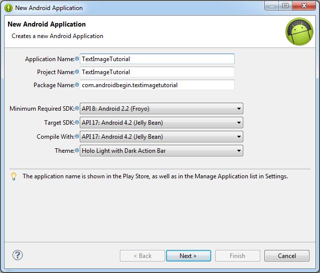 TextImageTutorial Form
