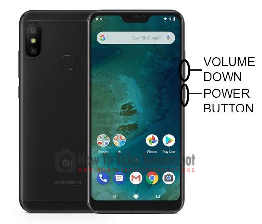 How to Take Screenshot on Xiaomi Mi A2 Lite