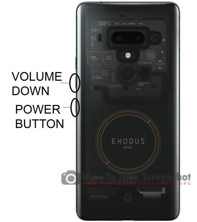How to Take Screenshot on HTC Exodus 1