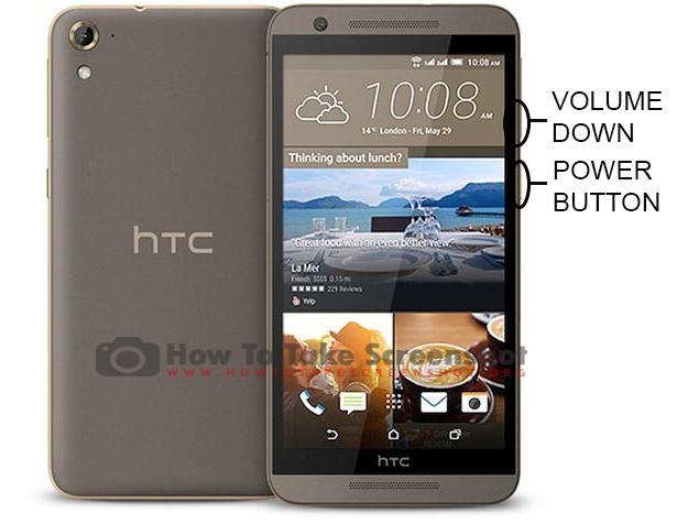 How to Take Screenshot on HTC One E9S