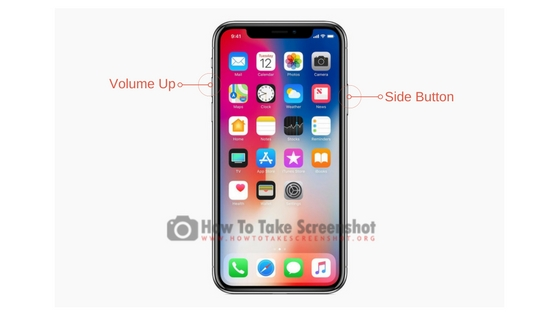 How to take screenshot on Apple iPhone X