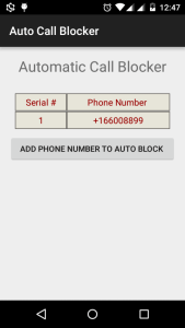 Automatic Call Blocking using Android Telephony Tutorial