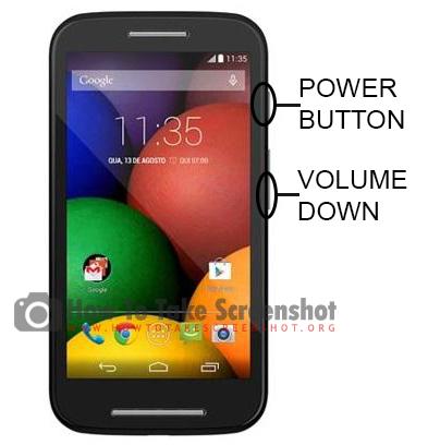 How to Take Screenshot on Motorola Moto E