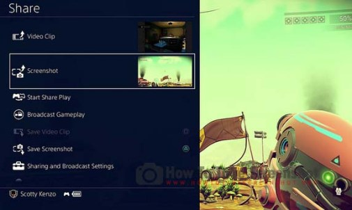 How to Take Screenshot on Playstation 4 (PS4)