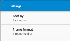 Contacts-Settings