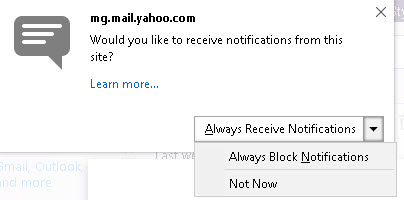Yahoo-mail-notifications