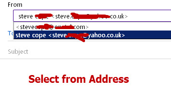 Yahoo-send-from-different-address