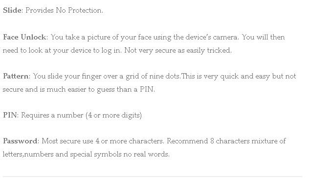 android-screen-unlock-methods