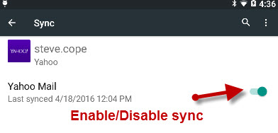 android-yahoo-sync-enable-disable