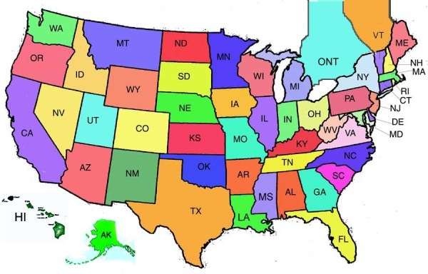 Click all the US States in 30 seconds Quiz By Braminator