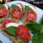 Baked Panko-Crusted Chicken Caprese