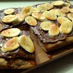 Caramel Banana Nutella Pizza
