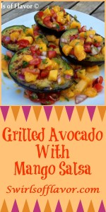 Grilled Avocado With Mango Salsa is an easy recipe for lightly seasoned avocados that are grilled to perfection and topped with a homemade lime-kissed mango salsa.