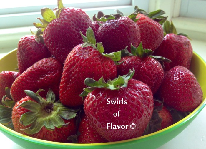 Srawberries in a bowl
