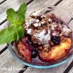 Blueberry Peach Pecan Crisp