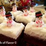 Peppermint Snowmen Brownies