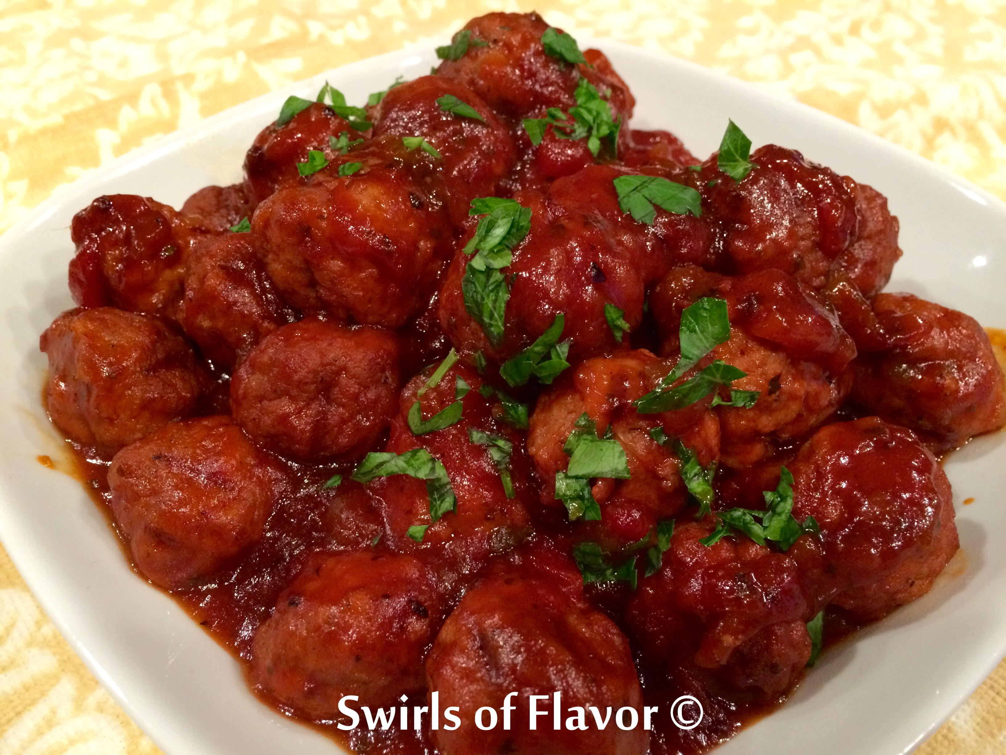 Slow Cooker Salsa Barbecue Turkey Meatballs