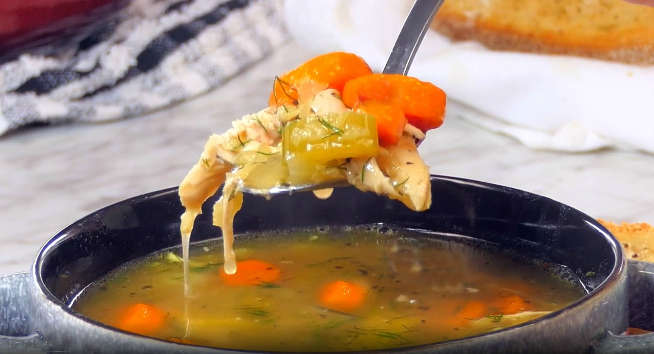 Spoonful of Chicken Lentil Soup