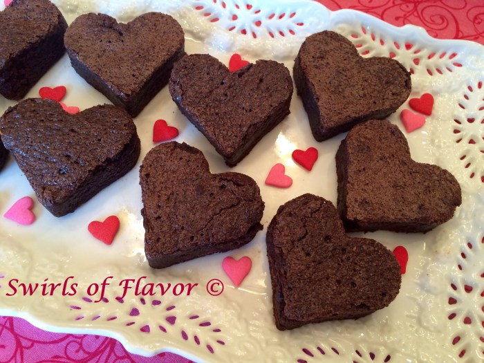 """Bake up some love this Valentine's Day for those special people in your life and make Valentine Heart Brownies. Our brownie recipe mixes up in one bowl then bake, cool and cut into delectable little hearts for a treat that says """"I love you""""."""