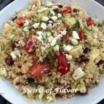 Mediterranean Quinoa Salad With Feta & Dill