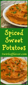 Spiced Sweet Potatoes is an easy recipe that's both decadent and creamy with a hint of spice. A perfect compliment to any meal and fancy enough for the holidays and entertaining!
