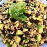 Chili Lime Black Bean Corn Farro Salad