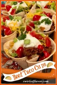 Beef Taco cups