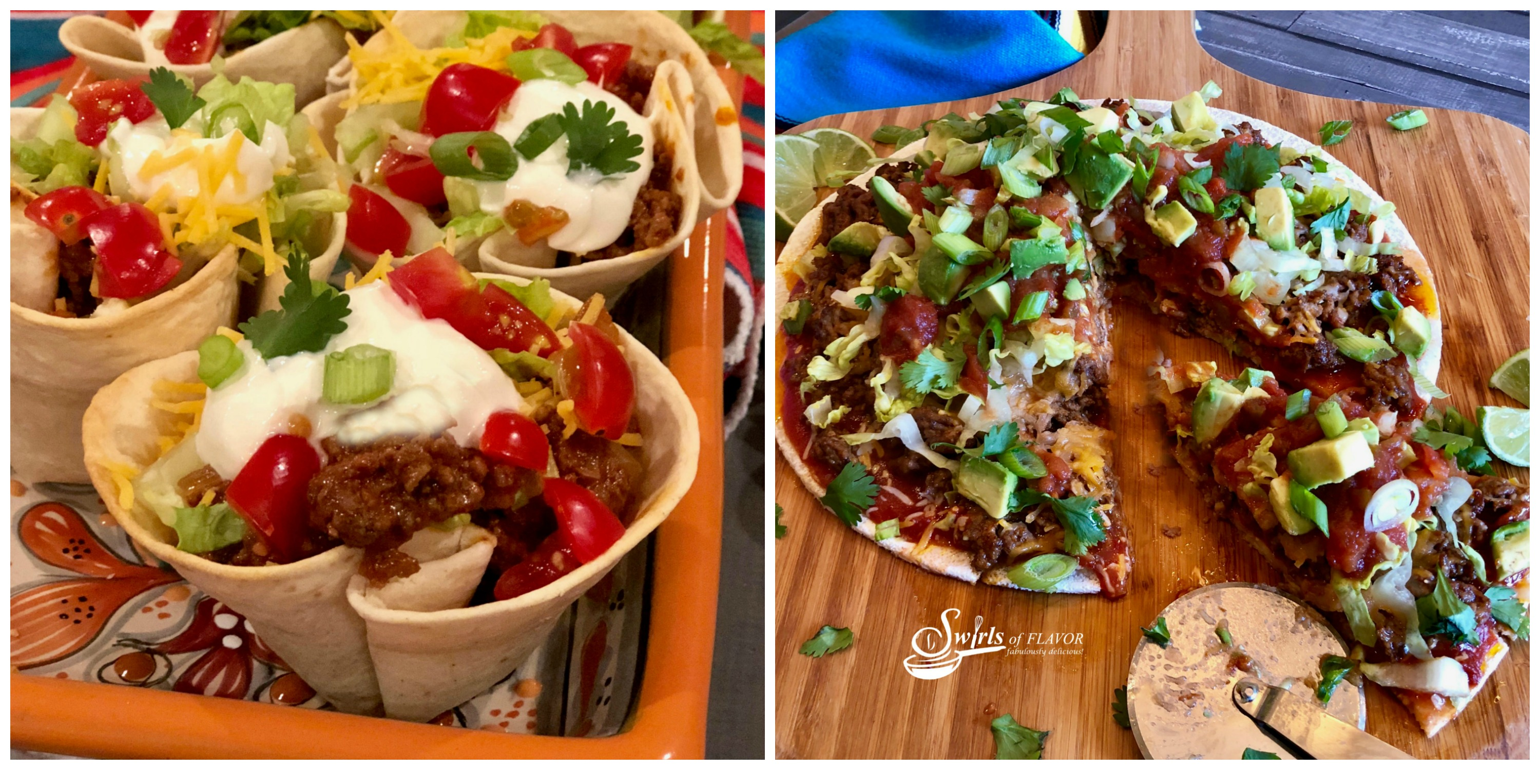 Taco Cups and Taco Pizza