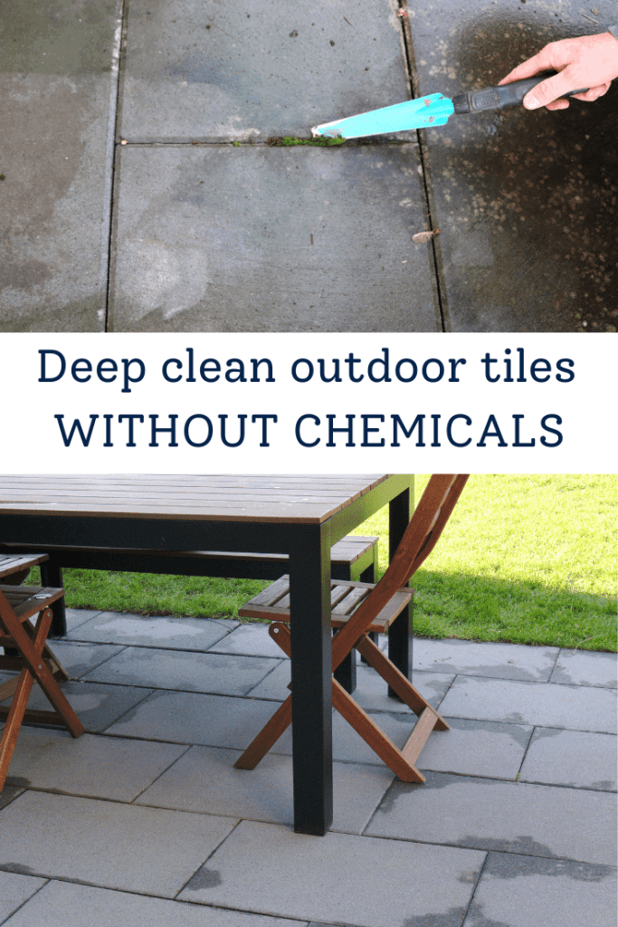 Deep Clean outdoor tiles without chemicals
