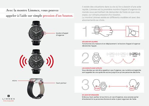 limmex, la montre d'appel d'urgence