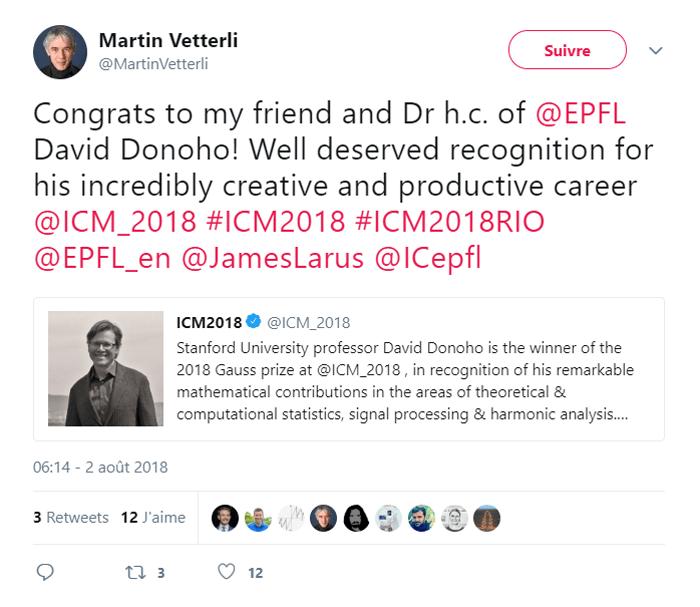 Gauss Prize 2018