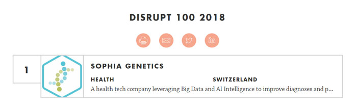 Disrupt 100 - startups suisses et innovation