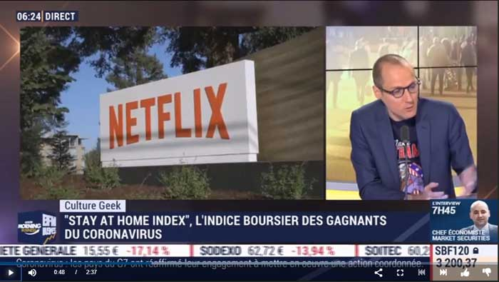 stay at home index - BFM TV