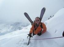 Markus reaching Galenstock North East ridge