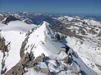 View back to lower Clariden peak
