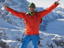 Me celebrating the first ski tour in 2013
