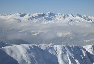 View from Pischa towards Weissflue (Davos)
