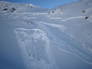 Triggered an Avalanche on Erezbger North slope