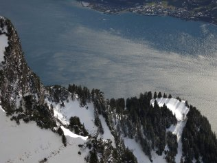 View down on Walensee